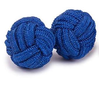 Gemelos de bola azul intenso